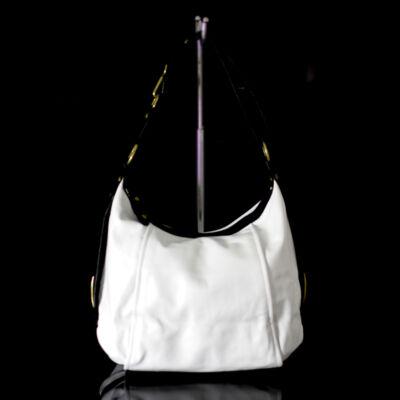 Valódi bőr fehér női táska
